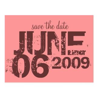 Save the Date - besonders angefertigt Postkarte