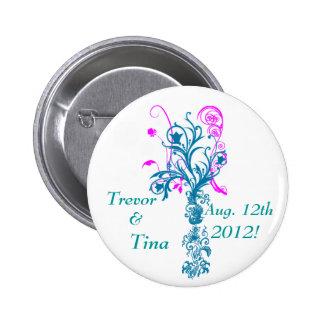 Save the Date Blühen des Traum-kleinen runden Runder Button 5,1 Cm
