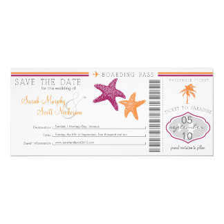 Save the Date Boarding-Durchlauf Personalisierte Einladungskarten
