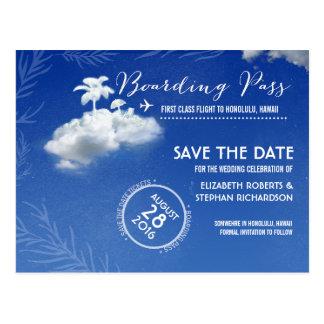 Save the Date Boarding-Durchlauf-Karten Postkarte