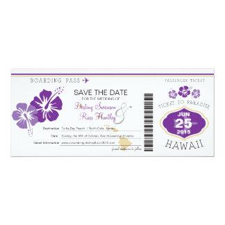 Save the Date Boarding-Durchlauf nach Hawaii Einladungskarten