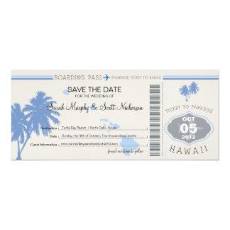 Save the Date Boarding-Durchlauf nach Hawaii Ankündigungskarten