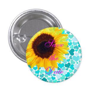 Save the Date Braut-Sonnenblume, die niedliche Her Runder Button 2,5 Cm