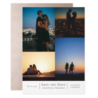 Save the Date Collage Wedding personalisiert Karte