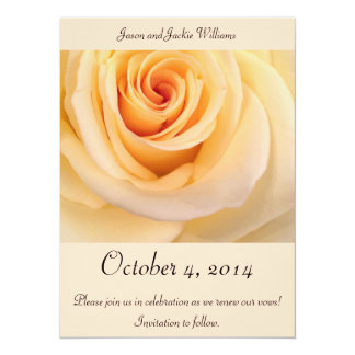 Save the Date! Creme-Rose Karte
