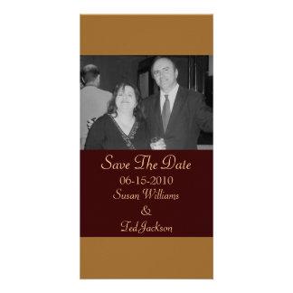 Save the Date einfaches Braun Foto Karten Vorlage