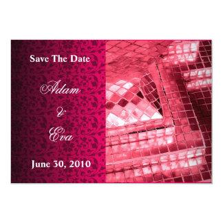 Save the Date Einladungs-rotes karminrotes 12,7 X 17,8 Cm Einladungskarte