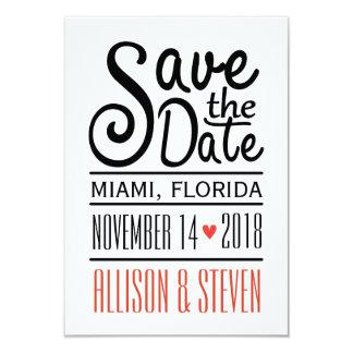 Save the Date Entwurf 8,9 X 12,7 Cm Einladungskarte