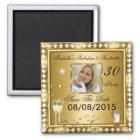 Save the Date fabelhafter 30 Quadratischer Magnet