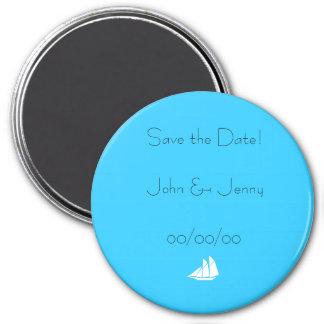 Save the Date fertigen Magnet ~ besonders an u. pe Runder Magnet 7,6 Cm