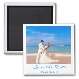 Save the Date Foto-Art-Magnet Quadratischer Magnet