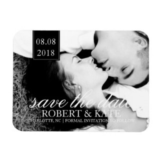 Save the Date Foto des Magnet-  Save the Date Magnet