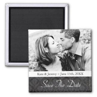 Save the Date Foto-Hochzeits-Magnet Quadratischer Magnet