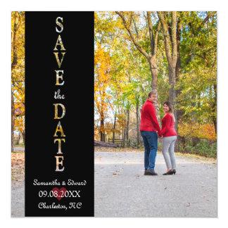Save the Date Foto-Magnet Magnetische Karte