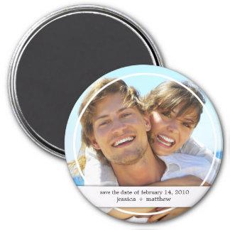 Save the Date Foto-Magnet Runder Magnet 7,6 Cm