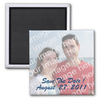 Save the Date! Foto-Magneten Quadratischer Magnet