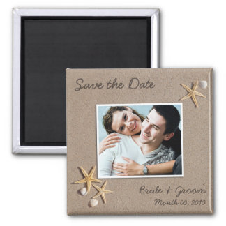 Save the Date Foto-Magneten Quadratischer Magnet