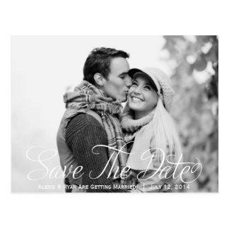 Save the Date Foto-Postkarte Postkarte