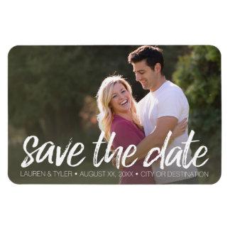 Save the Date - Foto und moderne gebürstete Magnet