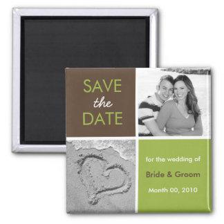 Save the Date Fotomagneten Quadratischer Magnet