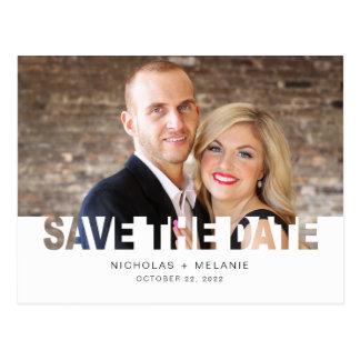 Save the Date Fotopostkarte, Postkarte