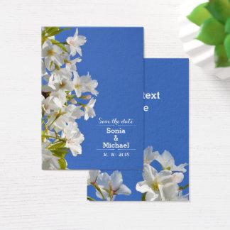Save the Date Frühlings-Blüten Visitenkarte