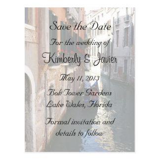 Save the Date für venezianisches Thema Postkarte