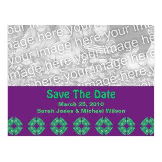 Save the Date groovy retro Postkarte