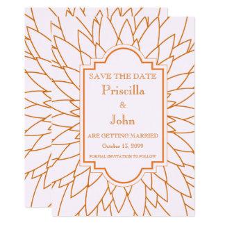 Save the Date großes gatsby, Dahlie geometrisch Karte