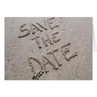 Save the Date handgeschrieben in der Karte