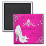 Save the Date Heels-SchuheTiara des Bonbon-16 rosa Magnete