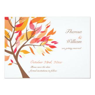 Save the Date Herbst-Thema-Baum-flache Karte Personalisierte Einladung