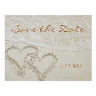 Save the Date Herzwellen Postkarte