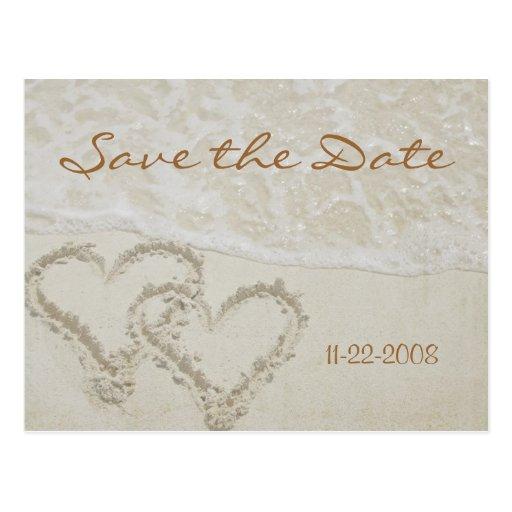 Save the Date Herzwellen Postkarten