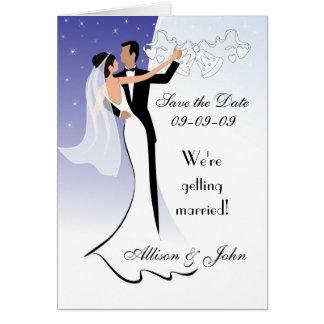 Save the Date - Hochzeits-Mitteilungs-Karte