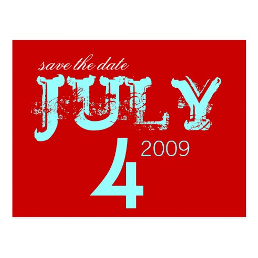 Save the Date - Juli - besonders angefertigt Postkarten