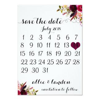 Save the Date Kalender | Boho mit Blumen Karte