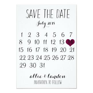 Save the Date Kalender Karte