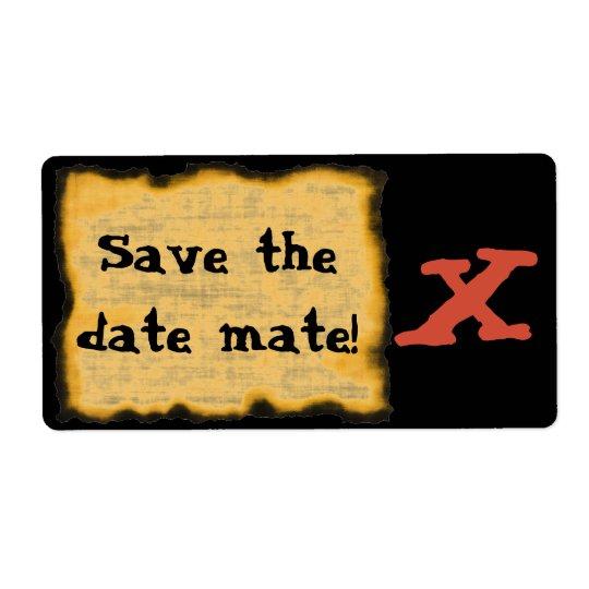 Save the Date Kamerad! Versandetikett