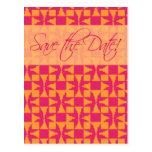 Save the Date Karte (Birini: Kürbis/Pink) Postkarten