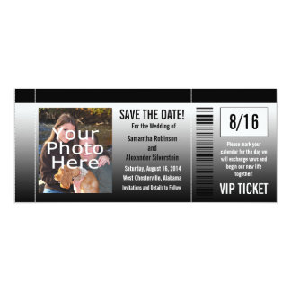 Save the Date Karten-Einladungen mit Foto 10,2 X 23,5 Cm Einladungskarte