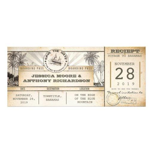 Save the Date Karten - Vintage Einladungen