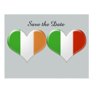 Save the Date kennzeichnet irisches italienisches Postkarten