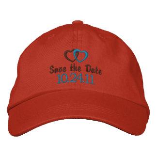 Save the Date kundengerecht Bestickte Baseballkappe
