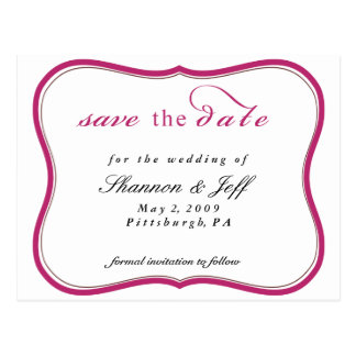 Save the Date kundengerecht Postkarte