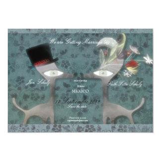 Save the Date kundengerechtes Hochzeits-Trendblau 12,7 X 17,8 Cm Einladungskarte