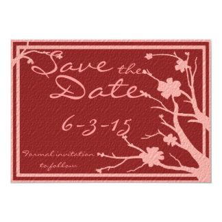 Save the Date laden kastanienbraune rosa 12,7 X 17,8 Cm Einladungskarte