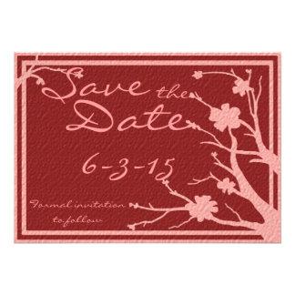 Save the Date laden kastanienbraune rosa