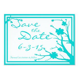Save the Date laden kundenspezifische 12,7 X 17,8 Cm Einladungskarte