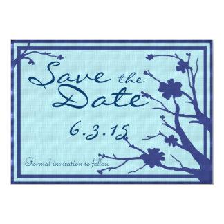Save the Date lädt blaue kundenspezifische mit 12,7 X 17,8 Cm Einladungskarte